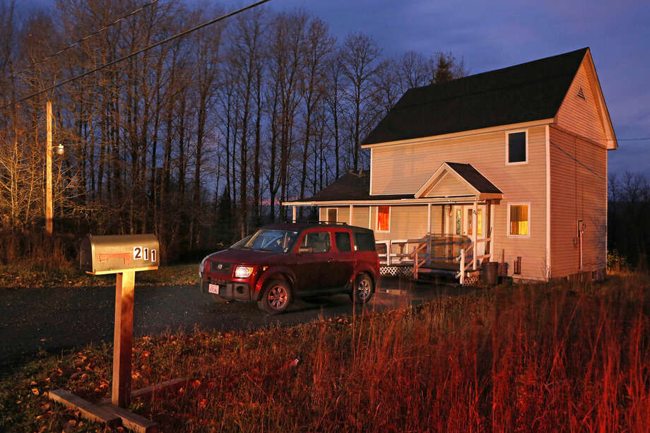 Nurse Kaci Hickox is staying in this home on a rural road in Fort Kent, Maine, Wednesday, Oct. 29, 2014. Hickox, who treated Ebola patients in West Africa said Wednesday she plans to stop quarantining herself in rural Maine, signaling a potential showdown with state police monitoring her home and state officials preparing to legally enforce the quarantine. (AP Photo/Robert F. Bukaty)