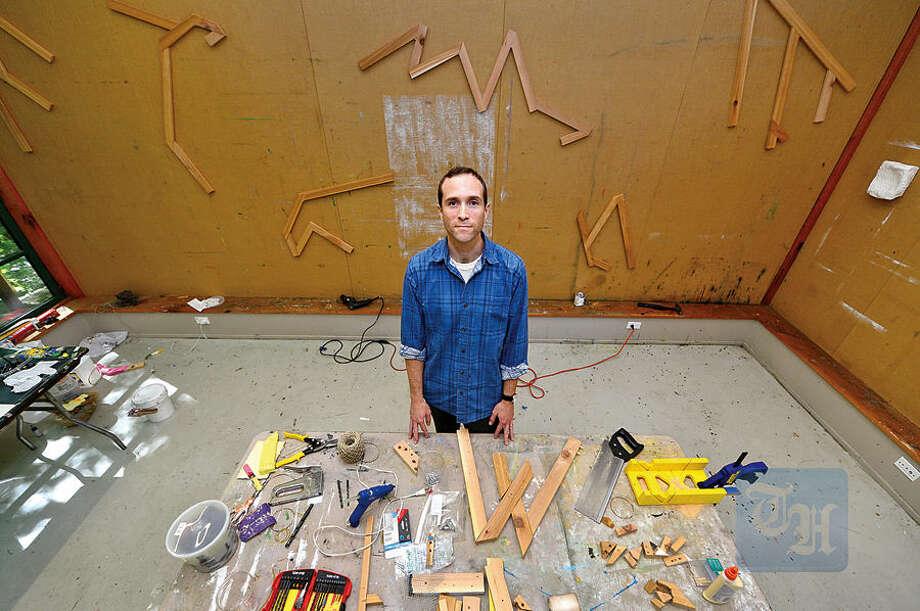 Hour photo / Erik Trautmann Cuyler Remick is Weir Farm Art Center's resident artist for July.