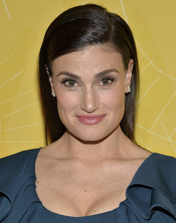 "File- This April 25, 2014, file photo shows actress Idina Menzel attending Variety's ""Power of Women: New York"" luncheon at Cipriani Midtown in New York. Sting, Menzel and the cast of ""Sesame Street"" will be among the stars celebrating at Macy's Thanksgiving Day Parade. Macy's announced Monday, Nov. 3, 2014, that Kiss, Meghan Trainor, Quvenzhane Wallis and Renee Fleming also will be part of the lineup on Nov. 27. (Photo by Evan Agostini/Invision/AP, File)"