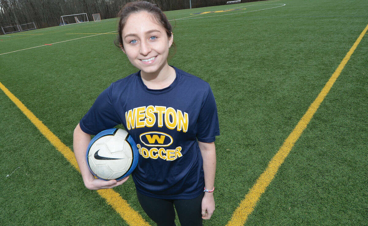 Weston's Charlotte Cenatiempo scored eight goals and added 12 assists this season en route to being named All-Area MVP for girls soccer. (Hour photo/Alex von Kleydorff)