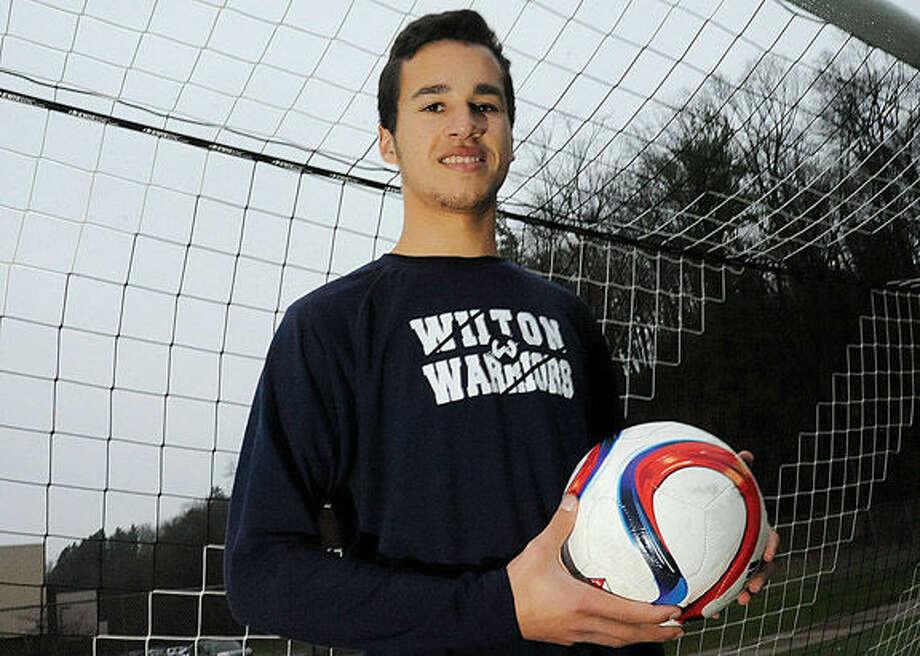 All-Area boys soccer MVP, Harry Allers. Wilton High School. Hour photo/Matthew Vinci