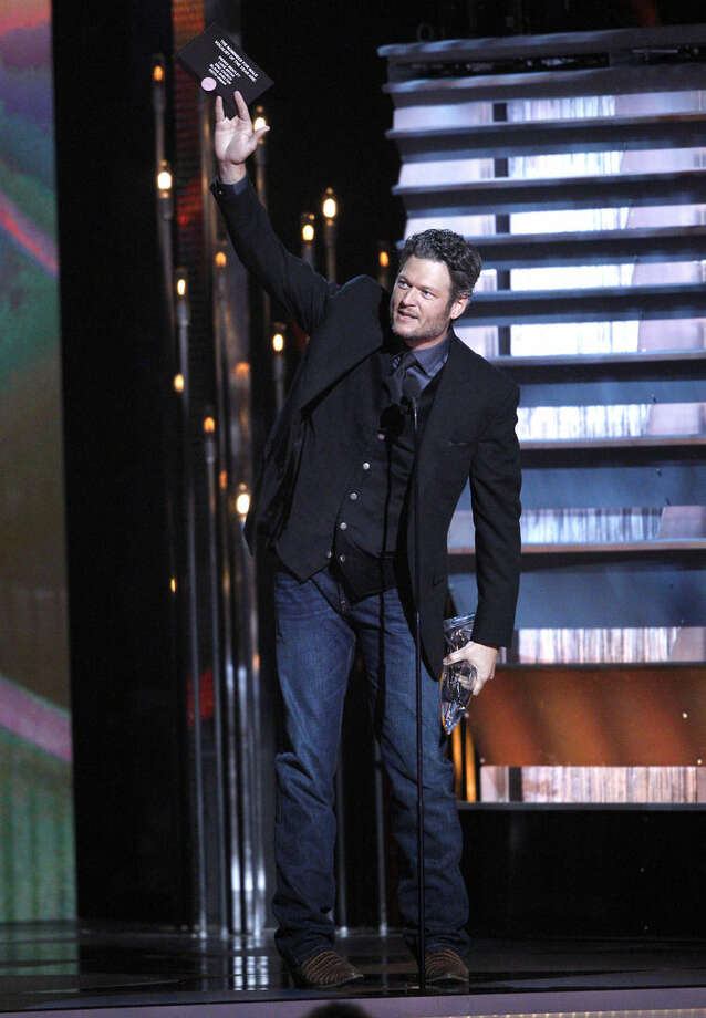 Photo by Wade Payne/Invision/APBlake Shelton accepts the award for male vocalist of the year onstage at the 48th annual CMA Awards at the Bridgestone Arena on Wednesday, Nov. 5, 2014, in Nashville, Tenn.