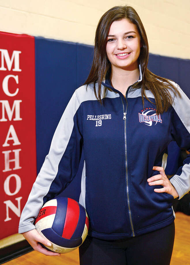 Hour photo / Erik Trautmann Brien McMahon High School senior, Meredith Pellegrino, The Hour All-Area Volleyball Most Valuable Player.