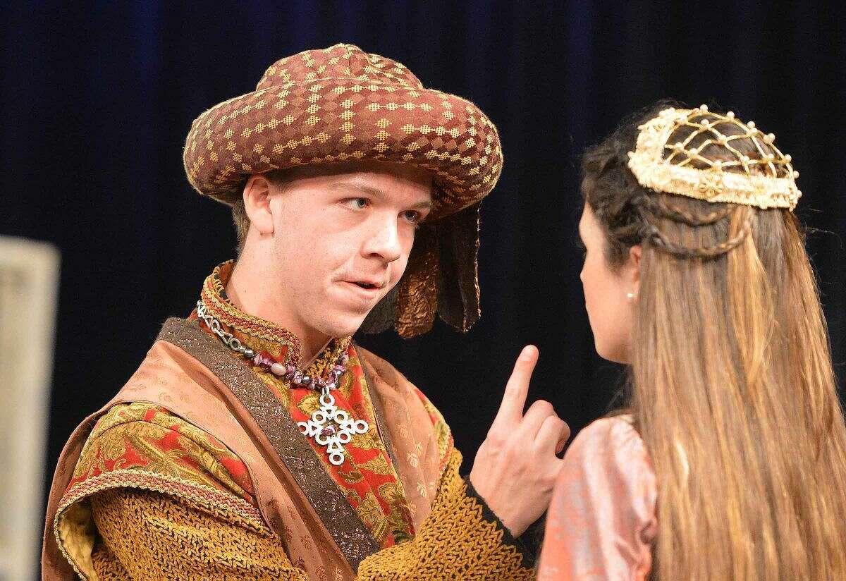 Hour Photo/Alex von Kleydorff Lord Capulet (Griffin King) admonishing his daughter Juliet's (Annabelle Randolph) defiance of his wishes