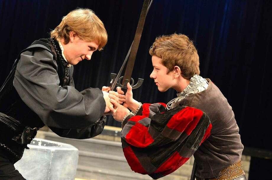 Hour Photo/Alex von Kleydorff Mercutio (Harry Wendorff) and Tybalt (Elliot Connors) Misdirected adversaries locked in a fight to the death