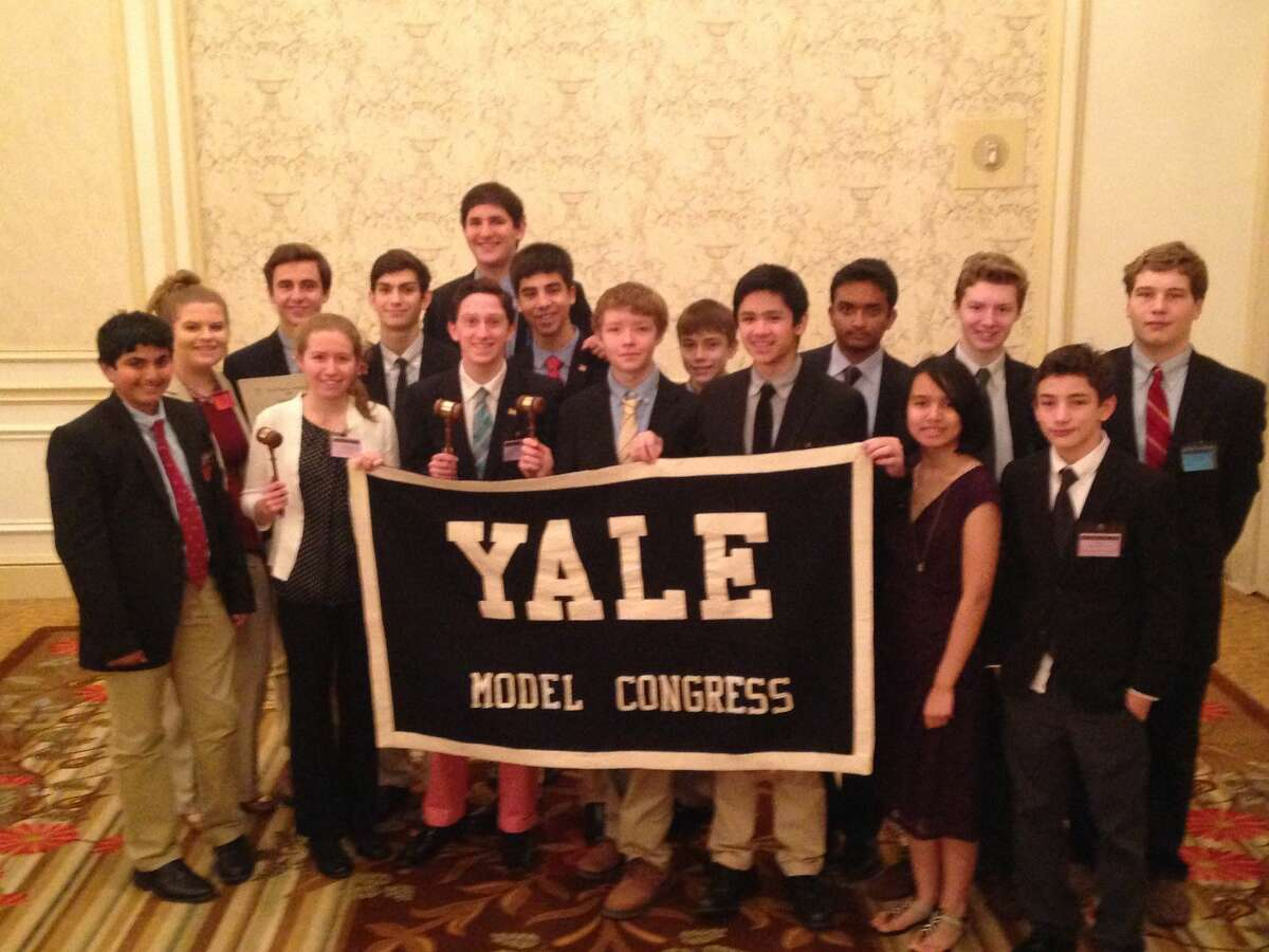 The Wilton High School 2015 Model Congress Delegation at Yale MC