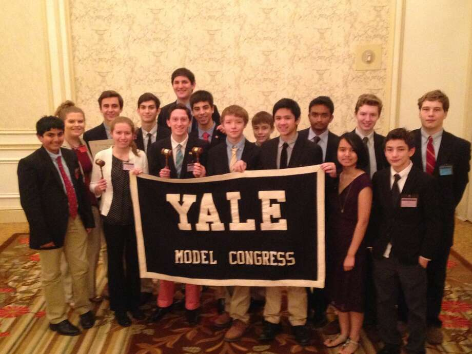 The Wilton High School 2015 Model Congress Delegation at Yale MC