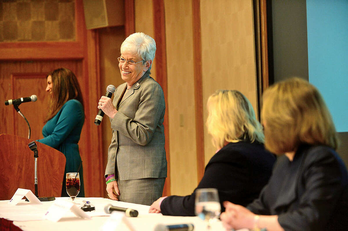 Hour photo / Erik Trautmann Lieutenant Governor Nancy Wyman is honored as The American Cancer Society hosts the inaugural
