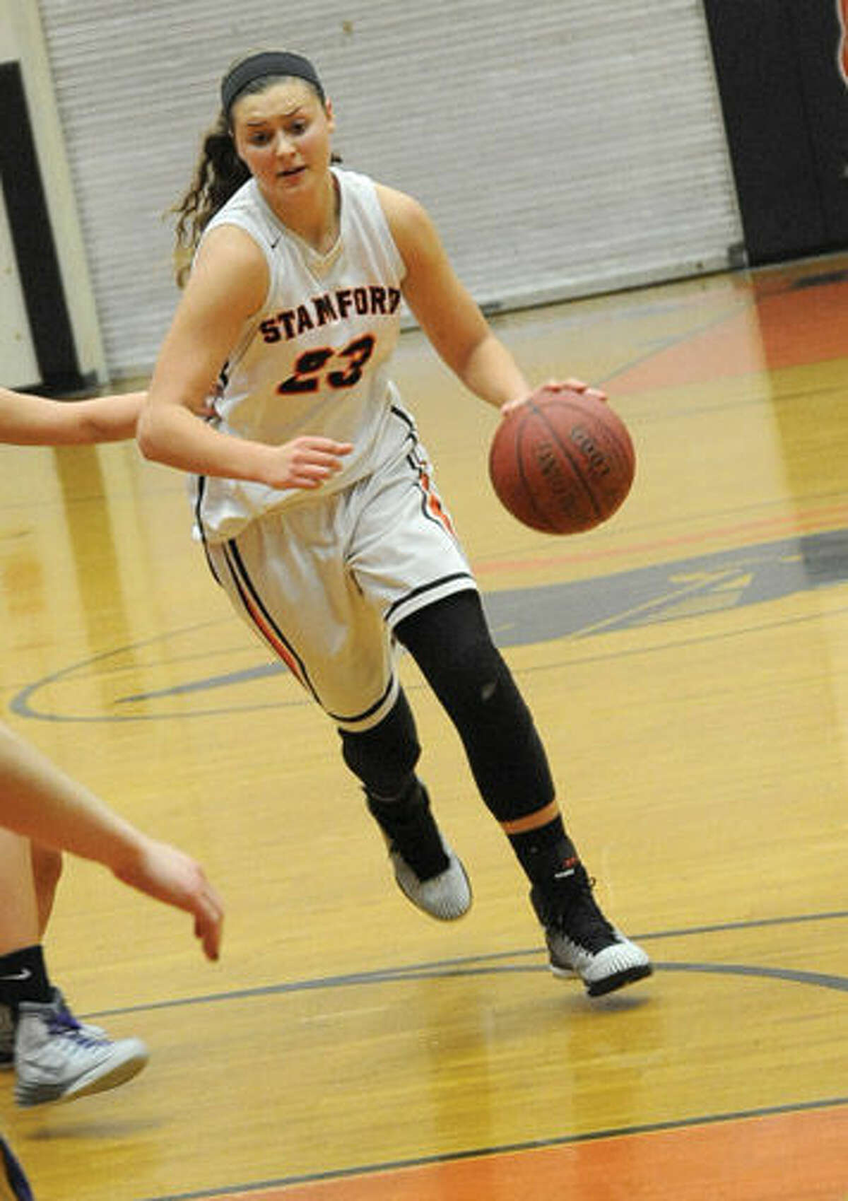 #23 Stamford girls basketball Alexa Kellner.
