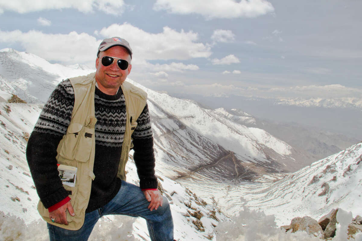 Wilton resident Daryl Hawk is recently pictured here traveling in Ladakh. Hawk is scheduled to give a presentation titled,