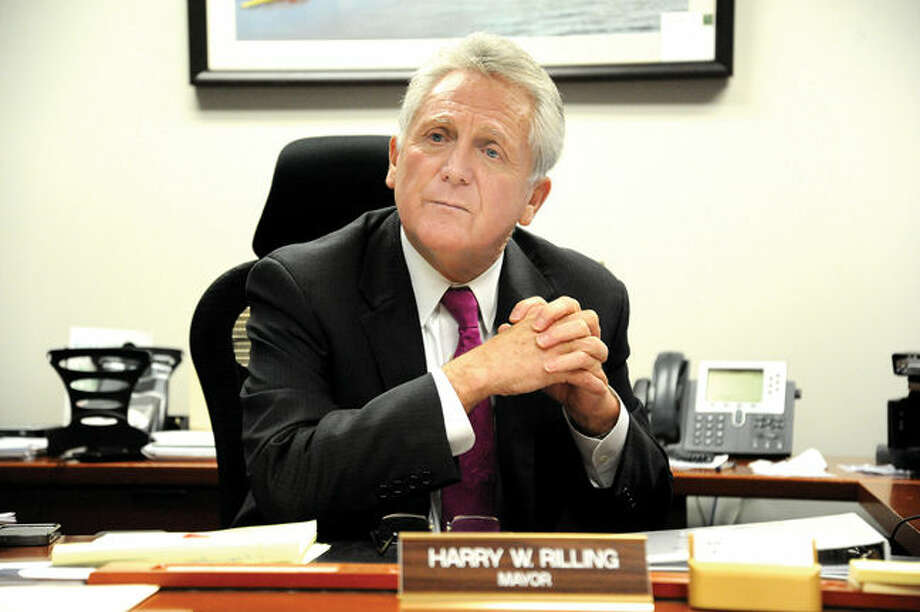 Norwalk Mayor Harry Rilling speaks to The Hour about his first year in office. Hour photo/Matthew Vinci