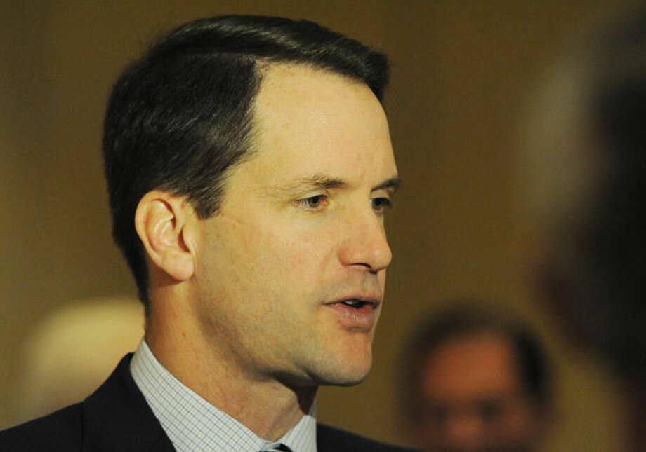 Congressman Jim Himes speaks Monday at the Stamford Marriott as a panel member of the Connecticut Business Industry Association presenting Opportunity Eastern Europe.