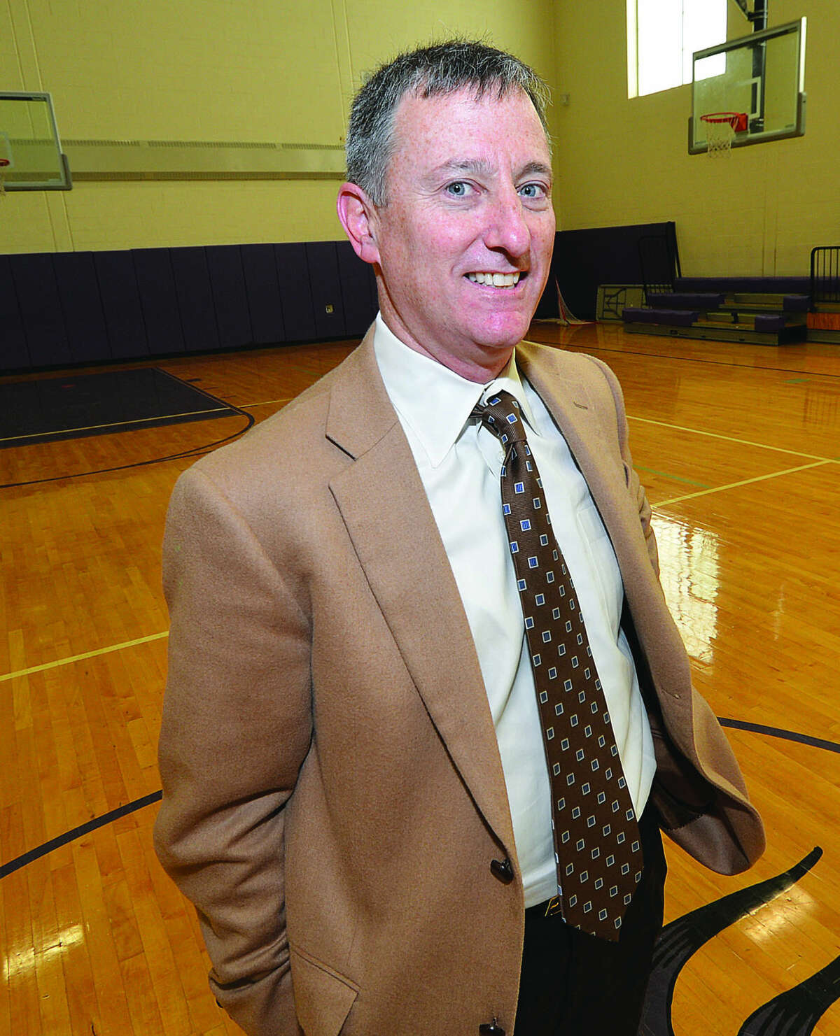 Hour Photo/Alex von Kleydorff Westhills Girls basketball coach Brian Kriftcher