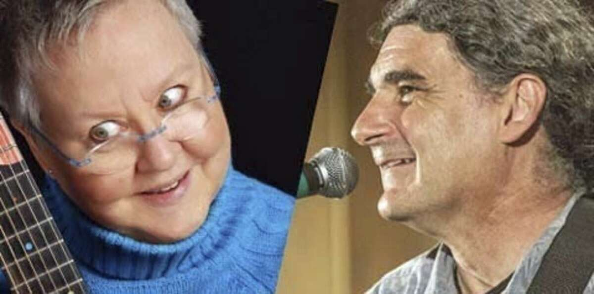 Contributed photo Voices Café is back in action on Sat., Nov. 22, with funny folks Christine Lavin and Don White sharing two-of-a-kind stage chemistry.