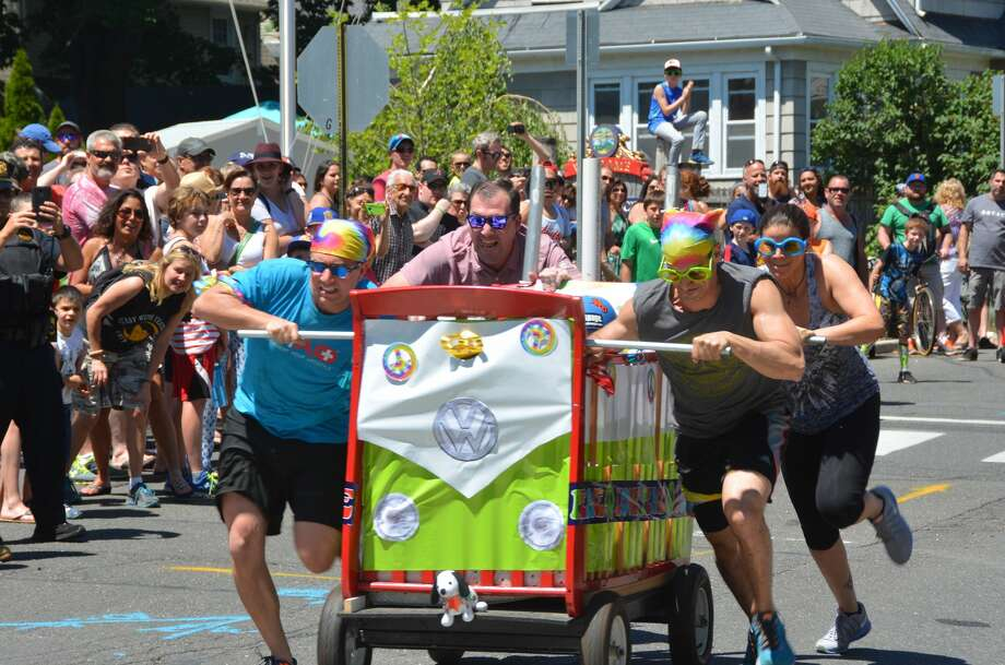 "Bridgeport's annual Black Rock Day celebration was held on June 12, 2016. To celebrate the Black Rock Community Council's 40th anniversary, the theme of Black Rock Day was ""Groovin' since 1976."" Festival goers were encouraged to wear their most festive tye-dye t-shirts and bell bottoms. The celebration included a road race, bed race, parade, live music and more. Were you SEEN? Photo: Vic Eng / Hearst Connecticut Media Group"