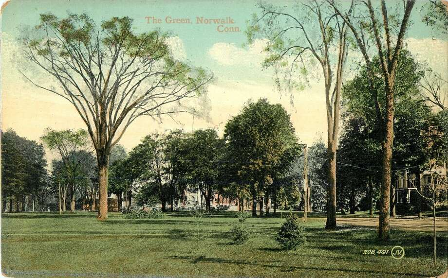 A Panoramic View of the Green, Norwalk CT 1912