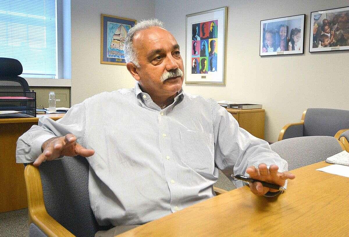 Hour Photo/Alex von Kleydorff Norwalk Superintendent of Schools, Dr. Manuel Rivera