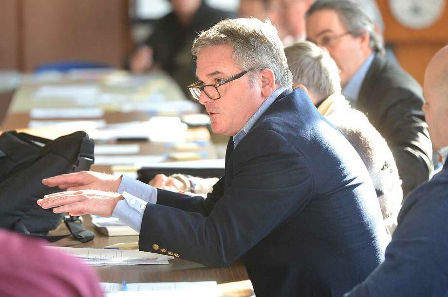 Hour Photo/Alex von Kleydorff Redevelopment Agency Executive Director Tim Sheehan answers a question durnig the Mayors Task Force meeting at City Hall