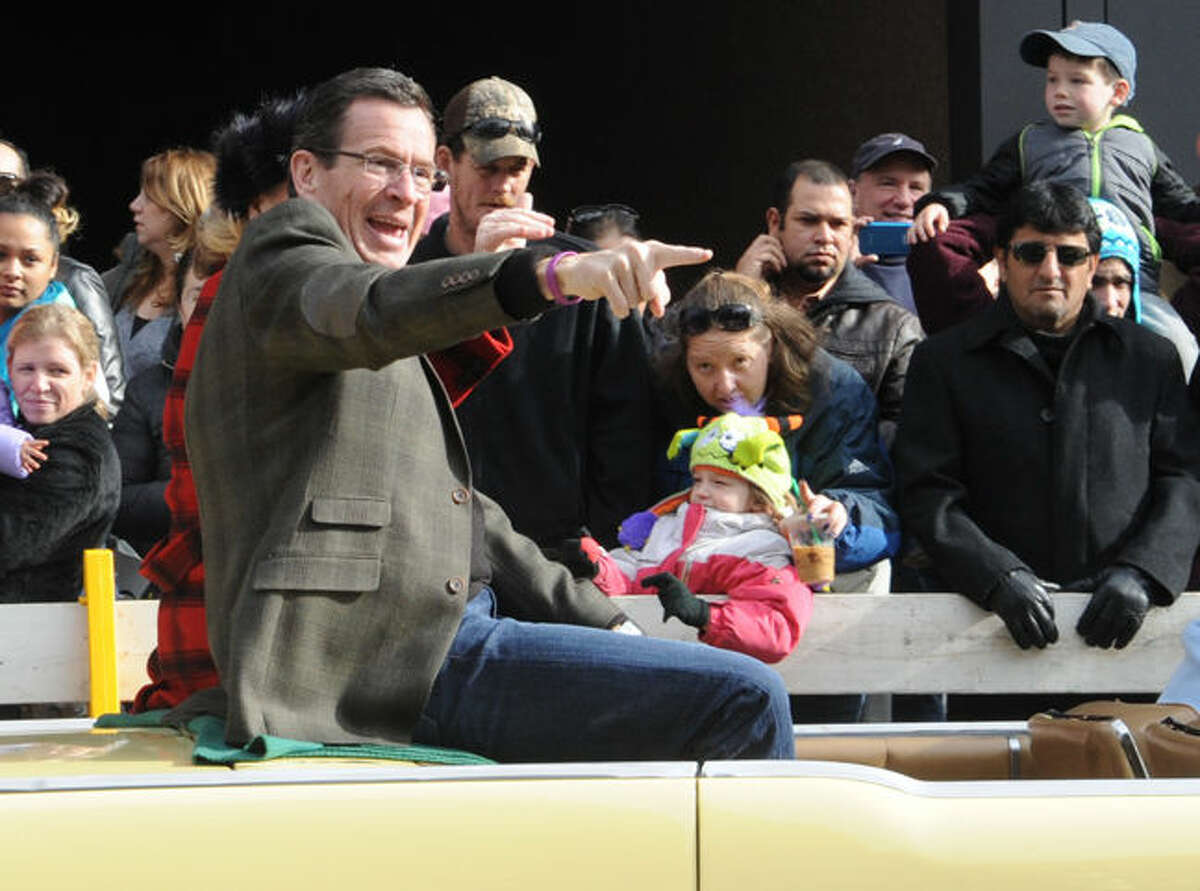 Governor Dannel Malloy at the annual UBS Parade Spectacular in downtown Stamford on Sunday. Hour photo/Matthew Vinci