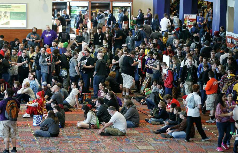 Several thousand pack the halls at Pax South 2016 at the Convention Center this January in San Antonio. Events such as Pax that designed for fans, instead of insiders, have risen in importance in the industry. Photo: Kin Man Hui /San Antonio Express-News / ©2016 San Antonio Express-News
