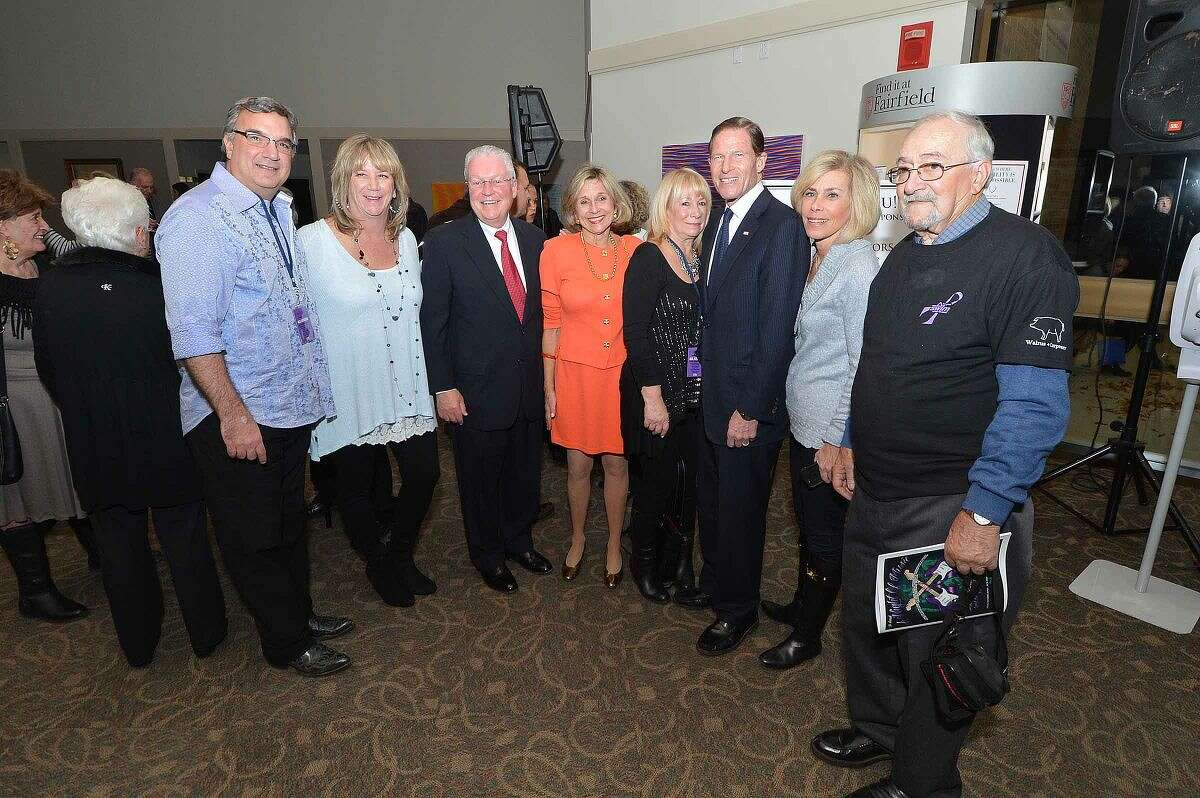Hour Photo/Alex von Kleydorff U.S. Senator Richard Blumenthal joins the 5th annual 'Night of Music' at Fairfield University's Quick Center for The Performing Arts Saturday night to benefit the Lebo-DeSantie Center for Liver and Pancreatic Disease at St. Vincent Hospital