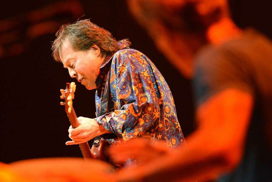 Hour Photo/Alex von Kleydorff Musician Rick Derringer performs during the 5th annual 'Night of Music' at Fairfield University's Quick Center for The Performing Arts Saturday night to benefit the Lebo-DeSantie Center for Liver and Pancreatic Disease at St. Vincent Hospital