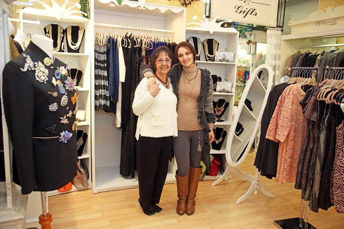 Connie and Rebecca Brown pose for a photo after discussing Small Business Saturday with The Hour at Connie B's in Norwalk. Hour Photo / Danielle Calloway