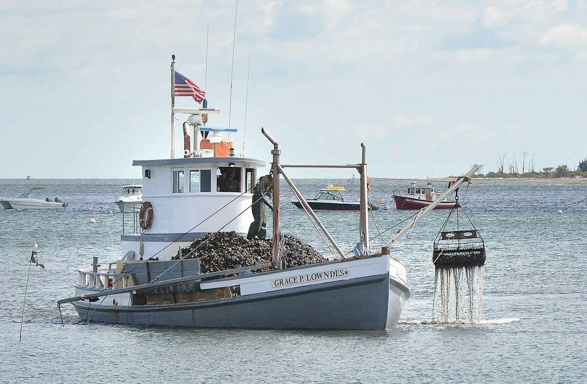 Hour Photo/Alex von Kleydorff Oyster Boat on Long Island Sound