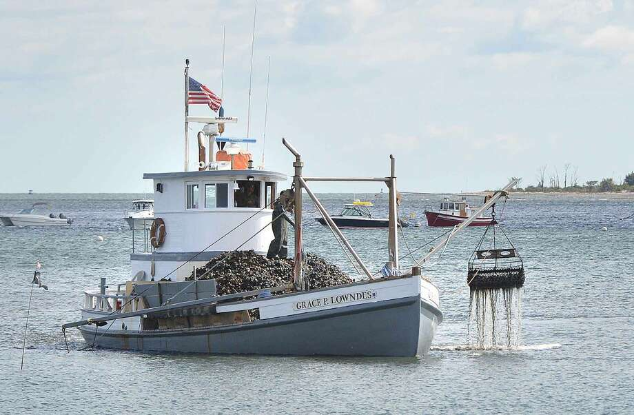 Hour Photo/Alex von Kleydorff Oyster Boat on Long Island Sound