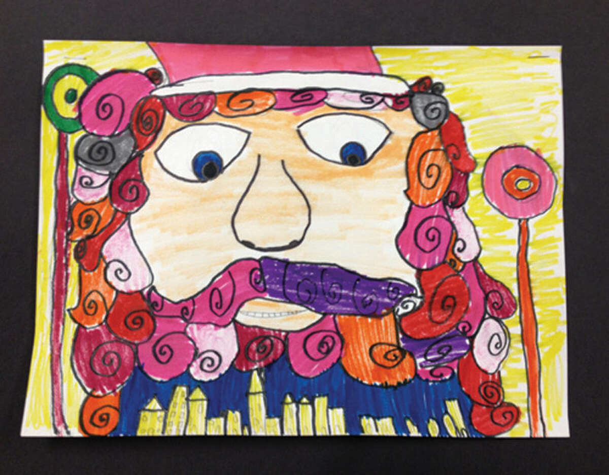 Stamford students Emma Cotrona and Anne Leydon will have their work displayed on holiday greeting cards sent from the mayor and the superintendent of schools. This is Emma's winning picture.