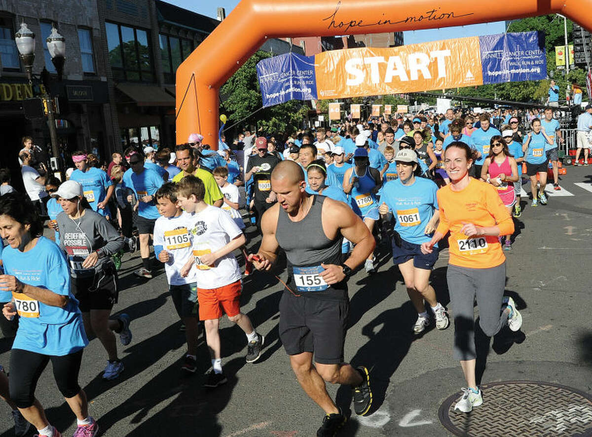 Stamford Hospital'ss Bennett Cancer Center hosts the 19th annual Hope in Motion Walk, Run & Ride Sunday morning at Columbus Park in Stamford.