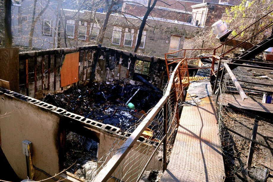 An area of the Ganga restaurant owned by Ganga Duleep believed to be where the fire began resulting in much property damage. hour photo/matthew vinci / (C)2010 The Hour