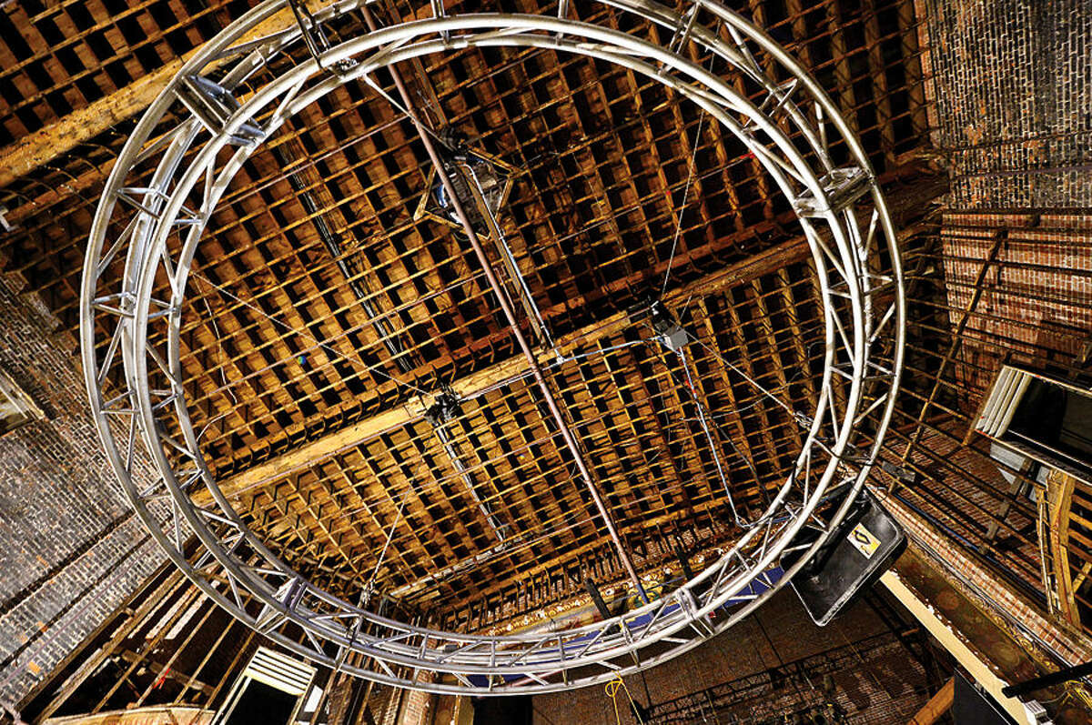 Hour photo / Erik Trautmann The Wall Street Theater Company has stripped down the former Globe Theater which will be renovated and reopen as the Wall Street Theater featuring live perfomances, interactive entertainment, cinema and digital productions.