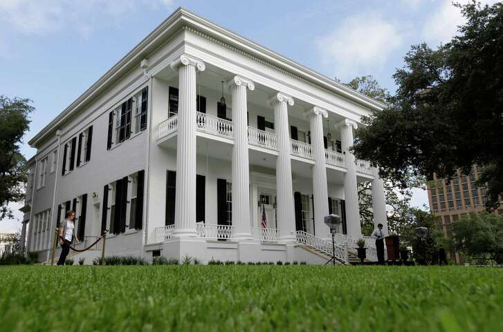 The restored Texas Governor's Mansion is seen Wednesday, July 18, 2012, in Austin, Texas. After four years and a $25 million restoration project, the historic Texas Governor's Mansion that was nearly destroyed by fire is complete. (AP Photo/Eric Gay)