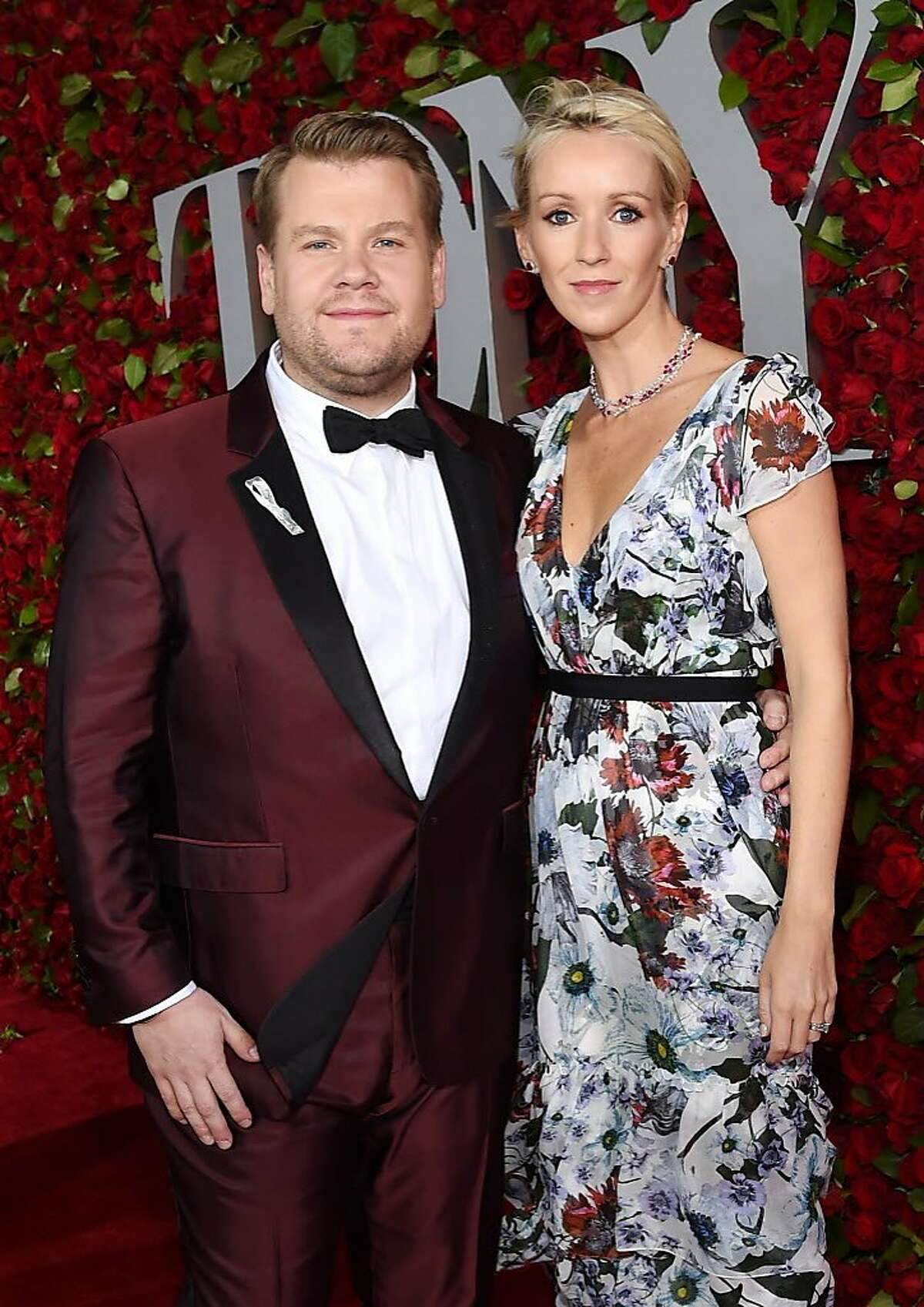 Host James Corden and Julia Carey attend the 70th Annual Tony Awards at The Beacon Theatre on June 12, 2016 in New York City.