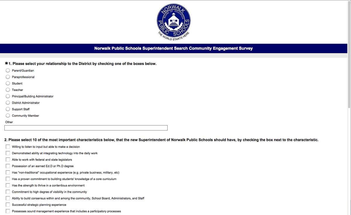 Online survey seeks community input in superintendent search