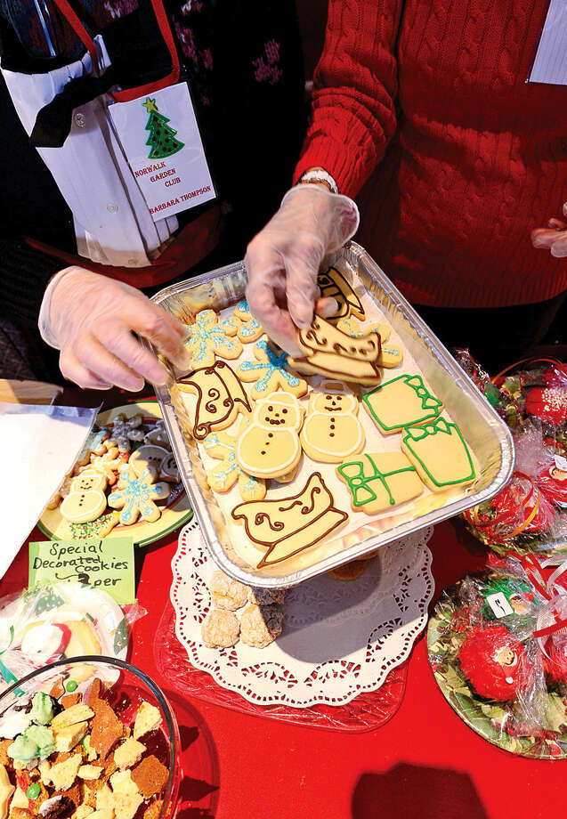 Hour photo / Erik Trautmann Special Decorated Cookies made by members of the Norwalk Garden Club during their annual Christmas craft fair at Cranbury Chapel Saturday.