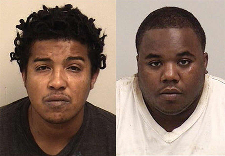 Bank robbery suspects Jermaine Cowan (left) and Carmello DeKane (right).