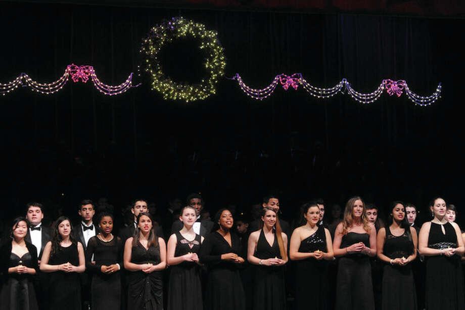 The 2013 Candlelight concert at Norwalk High School. Hour photo/Matthew Vinci