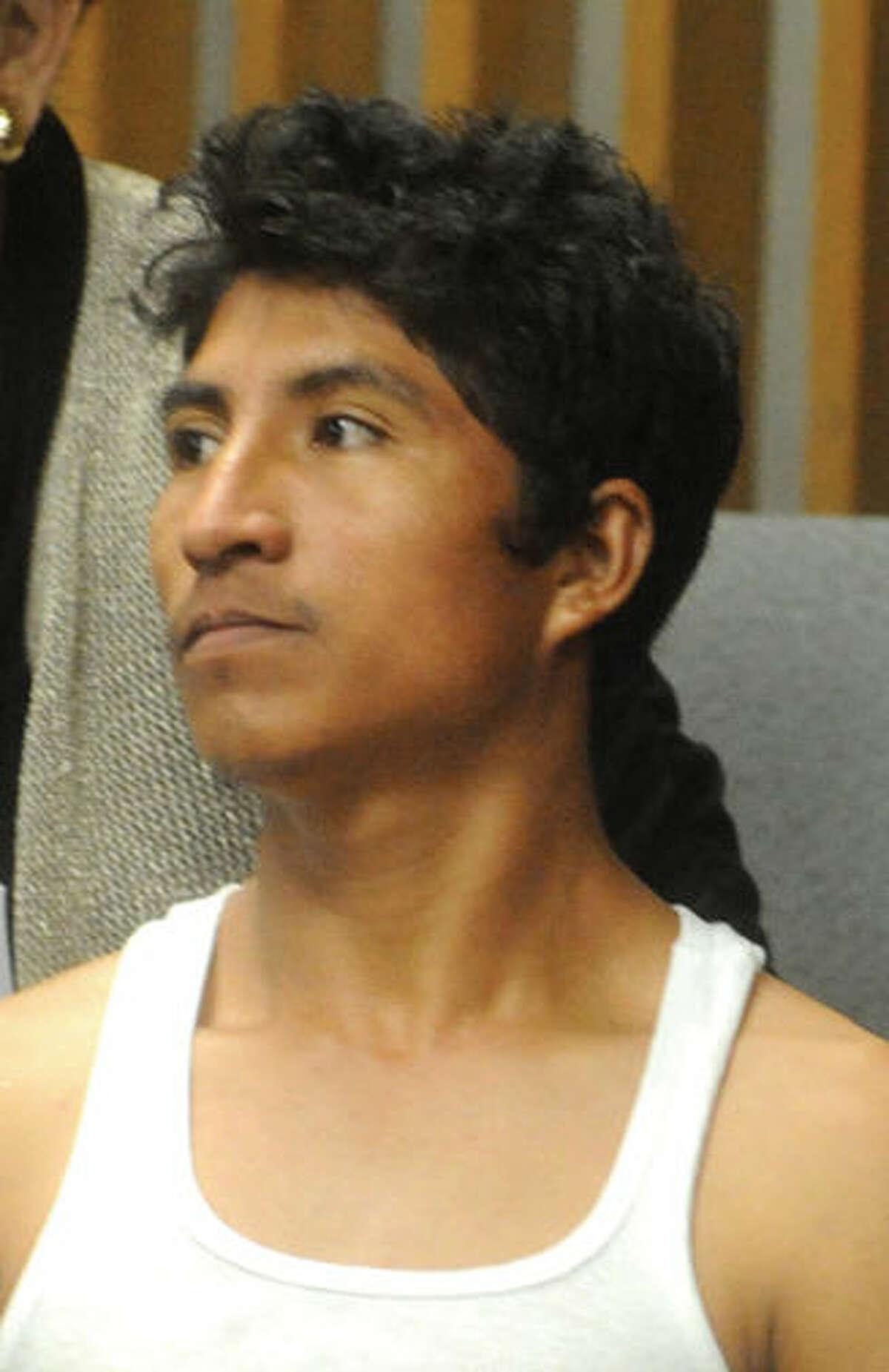 Hugo Cruz- Gregario arraignment at the Norwalk courthouse on Oct. 27. Hour photo/Matthew Vinci