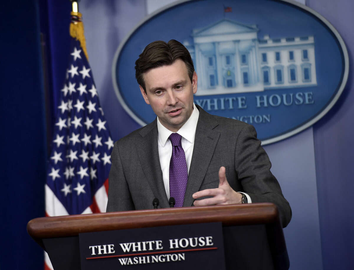 White House press secretary Josh Earnest speaks during the daily briefing at the White House in Washington, Wednesday, Dec. 10, 2014. Earnest answered questions about the Senate CIA torture report. (AP Photo/Susan Walsh)