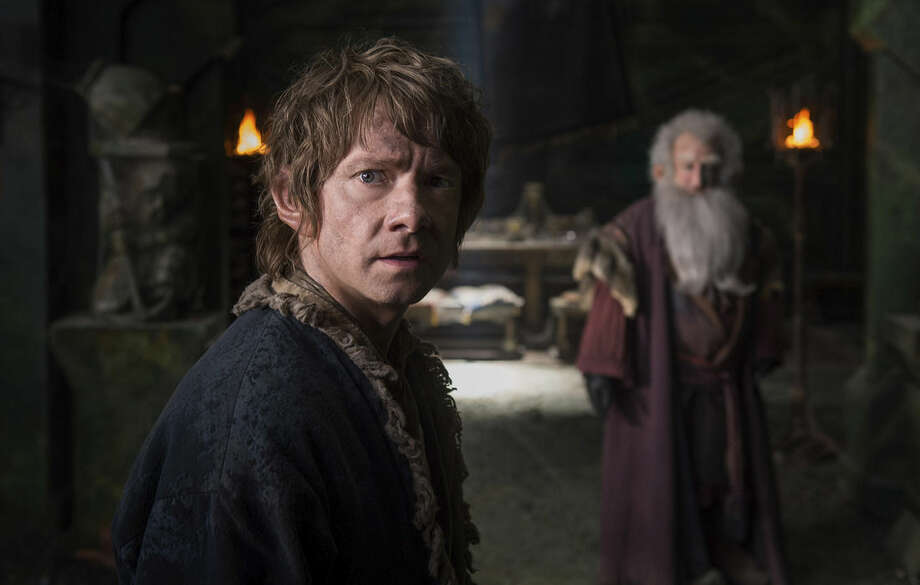 "In this image released by Warner Bros. Pictures, Martin Freeman appears in a scene from the film, ""The Hobbit: The Battle of the Five Armies."" (AP Photo/Warner Bros. Pictures, Mark Pokorny)"