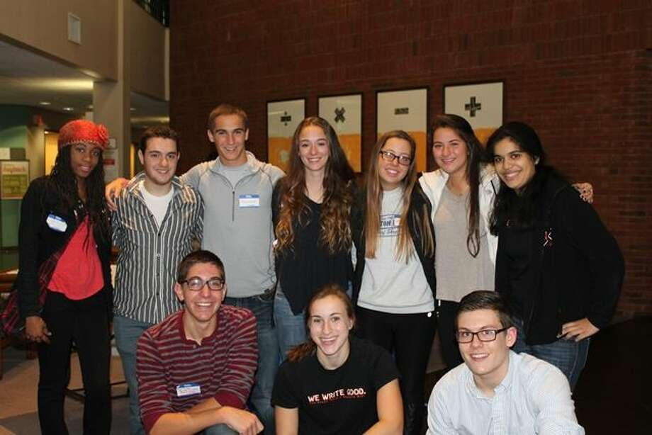 "The staff of Stamford High School's student newspaper, ""The Round Table."" The staff was recently awarded a Gold Medal by the Columbia Scholastic Press Association's Annual High School Journalism Review."