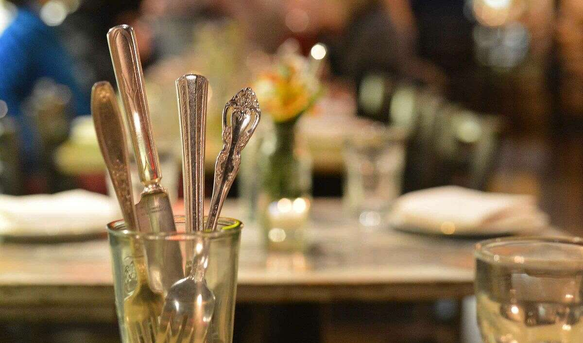 Hour Photo/Alex von Kleydorff Silverware service on a table at The Spread