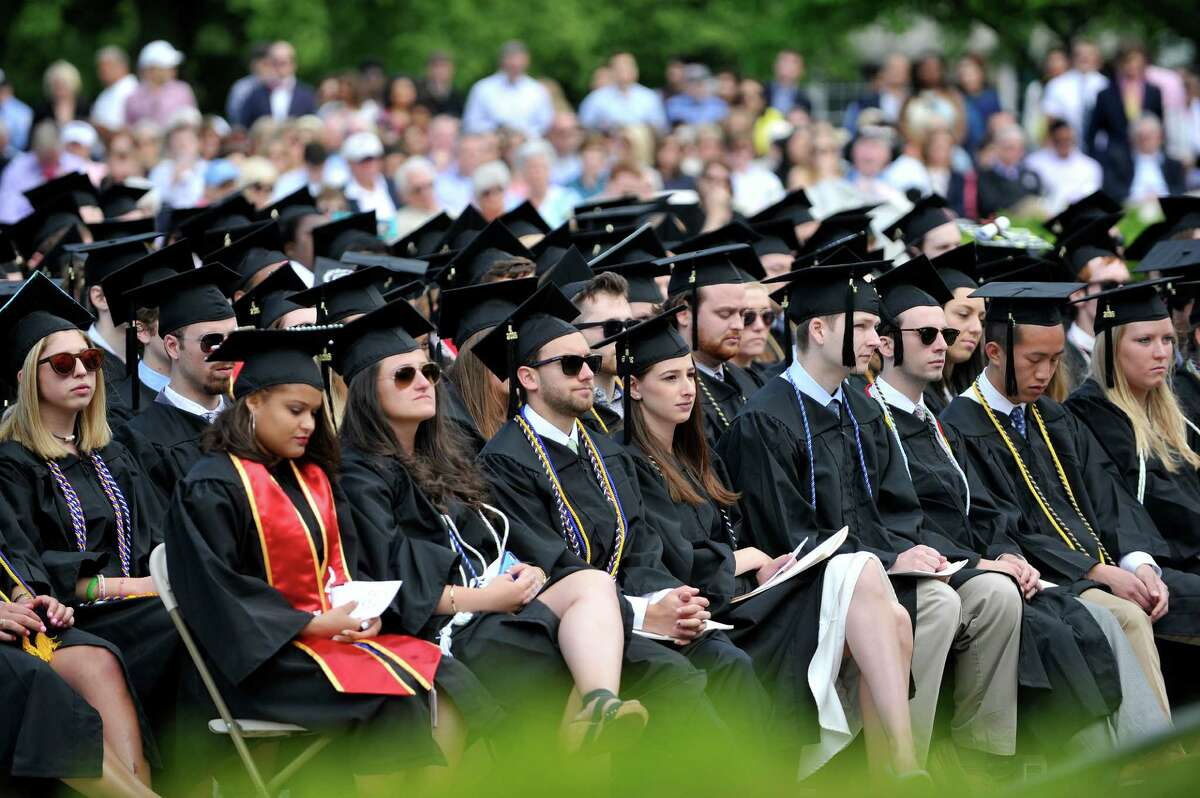 Union College graduates take part in their commencement exercises on Sunday, June 12, 2016, in Schenectady, N.Y. Degrees were handed out to approximately 550 students on Sunday during the college's 222 graduation. (Paul Buckowski / Times Union)