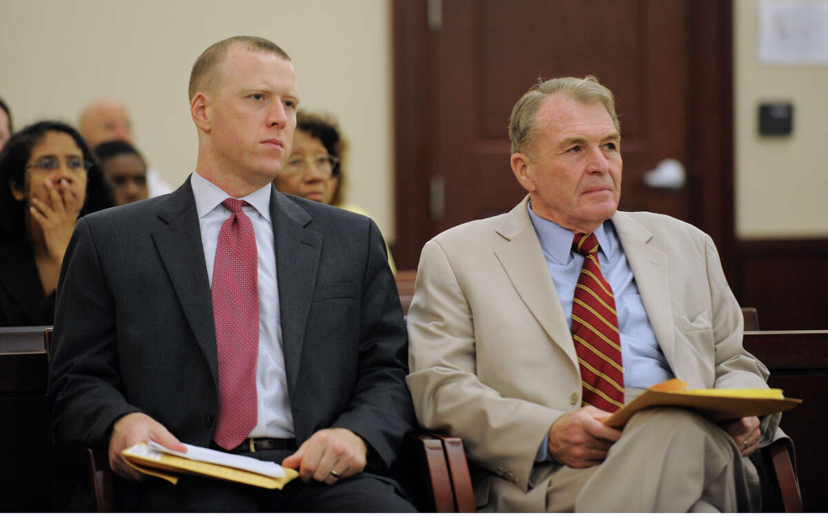 Father and son attorneys, Lee, left, and Terry Kindlon in Judge Herrick's Courtroom in the Albany Judicial Center on July 2, 2009, in Albany, N.Y (Skip Dickstein / Times Union archive)