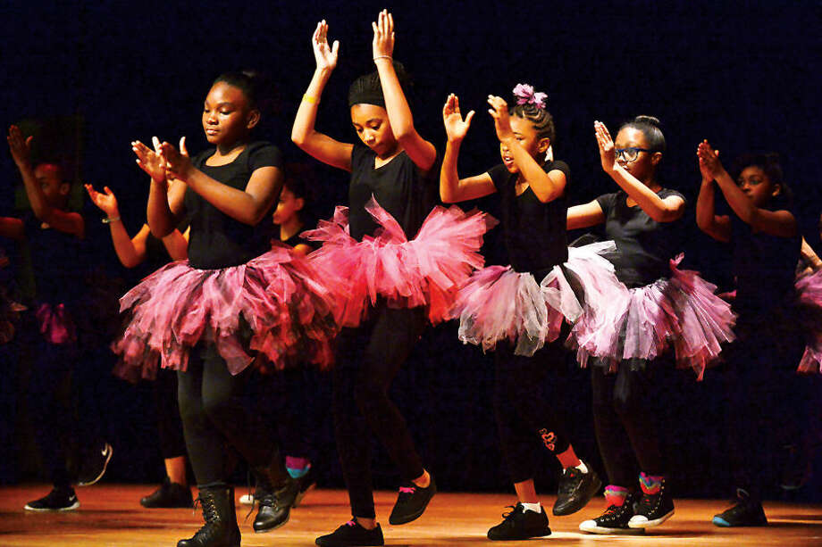 Hour photo / Erik Trautmann Step Dancers with Rythym Nation perform Saturday at West Rocks School as Serving All Vessels Equally, Inc., (SAVE) convenes the first CT Stomp the Violence Conference. The conference seeks to foster a regional conversation about youth and gang violence and raise awareness about the problem. The Conference also seeks to enable local communities to more effectively address youth violence through comprehensive planning and the sharing of common challenges and strategies.