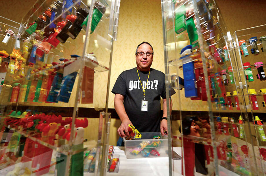 Hour photo / Erik Trautmann at the 16th Annual North East PEZ Collector's Gathering Saturday at the the Stamford Sheraton.