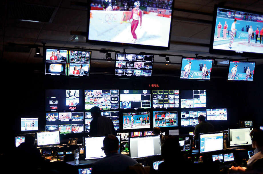Hour photo / Erik Trautmann NBS Sports in Stamford broadcasts comprehensive coverage of the Sochi Winter Olympics around the world from their facility their Stamford Friday.