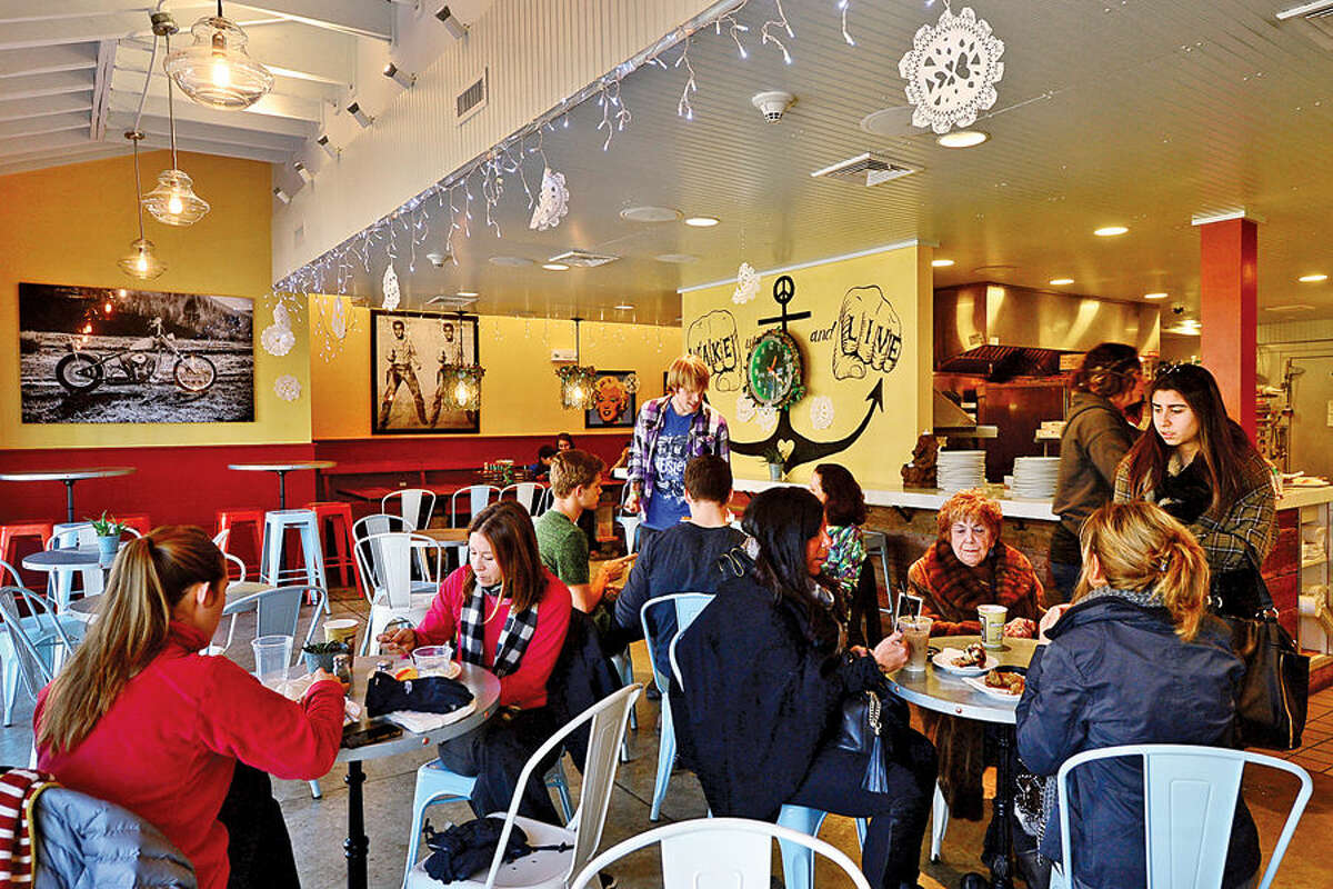 Hour photo / Erik Trautmann The upscale coffee house, Java in Westport, will be closing it's doors after only one year in operation.